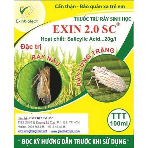 THUỐC TRỪ RẦY VÀ CÔN TRÙNG CHÍCH HÚT EXIN 2.0 SC